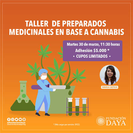 Taller de Preparados Medicinales en Base a Cannabis 30 marzo 2021