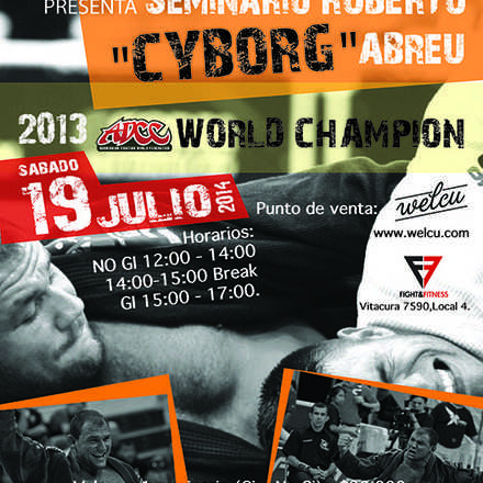 "Seminario Roberto ""Cyborg"" Abreu en Chile, World Class Brazilian Jiu Jitsu Champion, 2013 ADCC Champion."