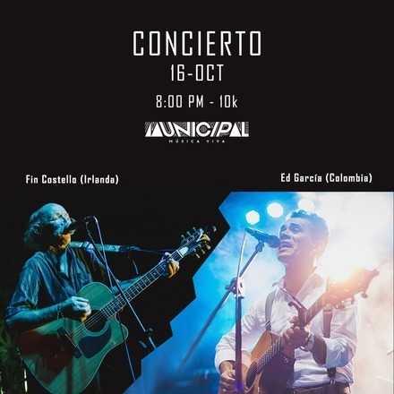 Ed García y Fin Costello / Folk y Country en Municipal Bga