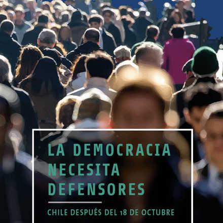 """Lanzamiento """"La democracia necesita defensores"""" por Sergio Muñoz"""