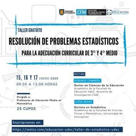 Taller Resolución de Problemas Estadísticos para la adecuación curricular de 3er y 4to medio