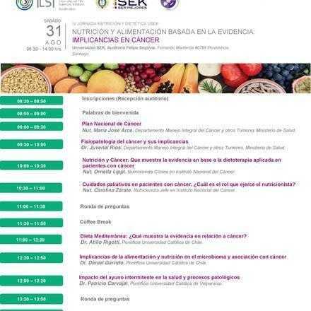 IV JORNADA NUTRICIÓN Y DIETÉTICA USEK • NUTRICIÓN Y ALIMENTACIÓN BASADA EN LA EVIDENCIA: IMPLICANCIAS EN CÁNCER