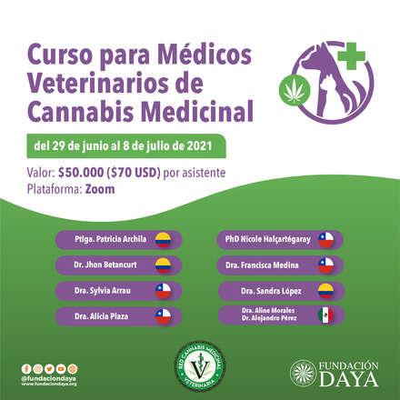 Curso para Médicos Veterinarios de Cannabis Medicinal junio 2021