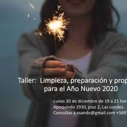 Taller: Limpieza, preparación y propósito para el Año Nuevo 2020