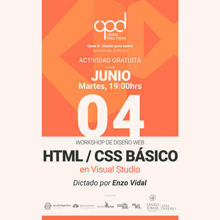 Workshop HTML/CSS con Visual Studio Intensivo 4 clases - 4, 6, 11 y 13 de Junio