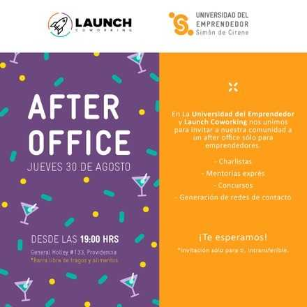 After Office para emprendedores  UDE + LAUNCH coworking
