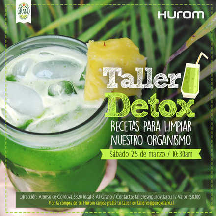 Taller Detox Hurom