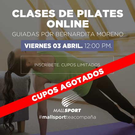 Clase Pilates Online - Viernes 03 Abril