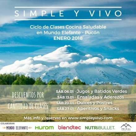 Clase Aperitivos y Snacks en Pucón - Simple y Vivo