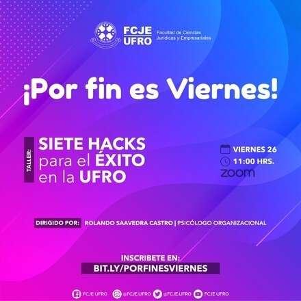 """Taller """"Siete hacks para el éxito en la UFRO"""""""