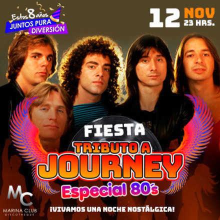 Fiesta Tributo a Journey y Especial 80's