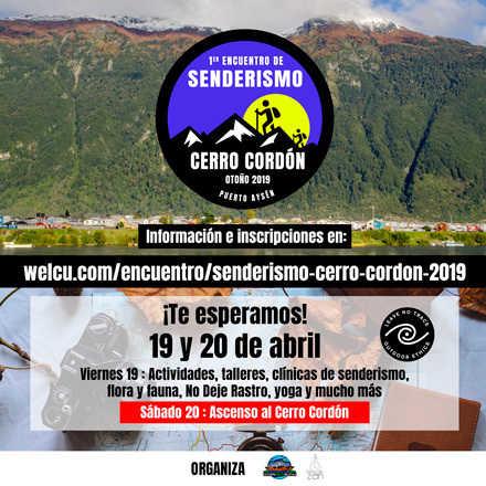 1er Encuentro de Senderismo Cerro Cordón - Otoño 2019