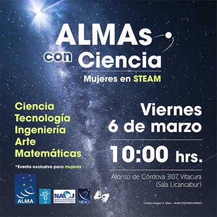ALMAs con Ciencia · Mujeres en STEAM