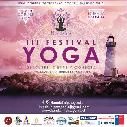 """III Festival de Yoga """"Descubre, siente, conecta""""  organizado por Kundalini Patagonia"""