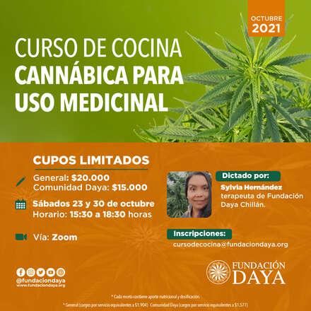 Curso de Cocina Cannábica para Uso Medicinal - octubre 2021