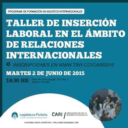Taller de Inserción Laboral en el Ámbito de las Relaciones Internacionales