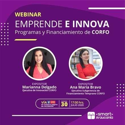 Webinar: Fondos de Corfo para Emprendimiento e Innovación