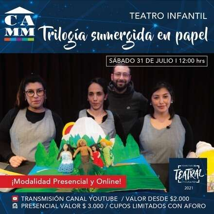 """Teatro Infantil """"Trilogía sumergida en papel"""""""