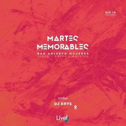 #CateGroup RR.PP // 18 DICIEMBRE // MARTES MEMORABLES DJ KRYS // OPEN BAR MUJERES