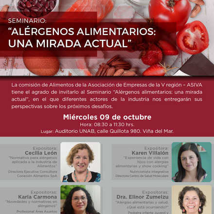 """Seminario: """"Alérgenos alimentarios: una mirada actual"""""""