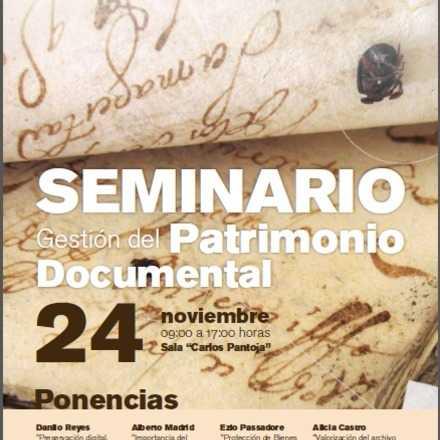 Seminario Gestión de Patrimonio Documental
