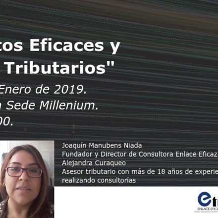 "Workshop: ""Proyectos Eficaces y Deberes Tributarios"""