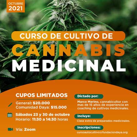 Curso de Cultivo de Cannabis Medicinal octubre 2021
