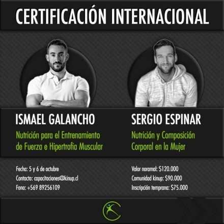 Certificacion Internacional Nutrición Deportiva