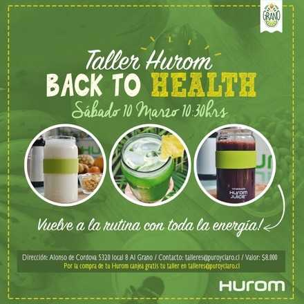 Taller Hurom Back to Health!