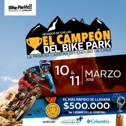 Campeón del Bike Park Nevados de Chillán 2018