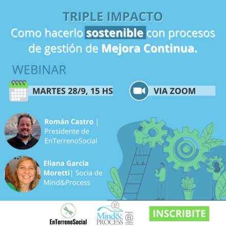 TRIPLE IMPACTO Como hacerlo sostenible con procesos de gestión de Mejora Continua.