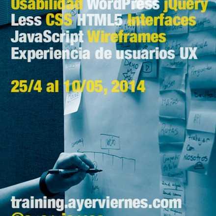 Cursos de Diseño UX, Desarrollo Web & Wordpress