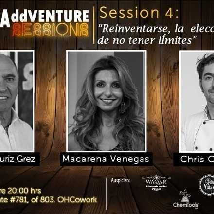 """AddVenture Session 4: """"Reinventarse, la elección de no tener límites""""."""