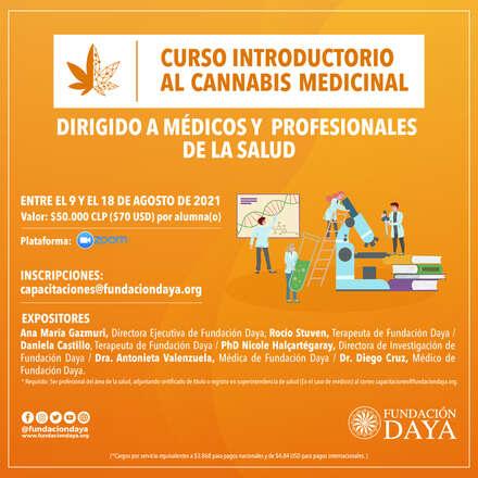 Curso Introductorio al Cannabis Medicinal dirigido a Médicos y Profesionales de la Salud - agosto 2021