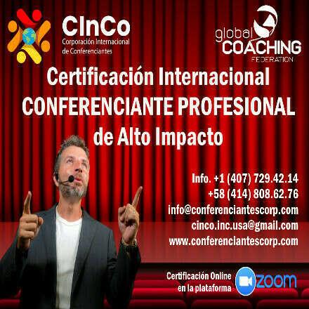 CERTIFICACIÓN INTERNACIONAL CONFERENCIANTE PROFESIONAL DE ALTO IMPACTO