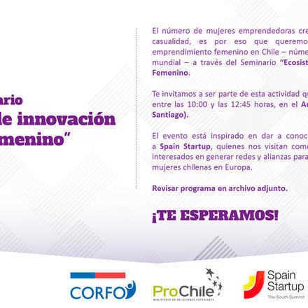 Seminario: Ecosistema de Innovación y Liderazgo Femenino