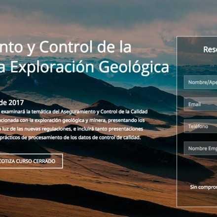 Curso Aseguramiento y Control de la Calidad en la Exploración Geológica y Minera