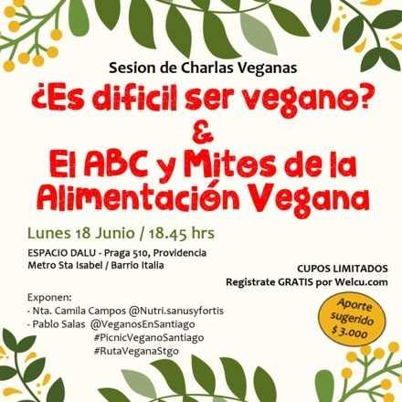 Sesion Charlas Veganas (Aporte voluntario)