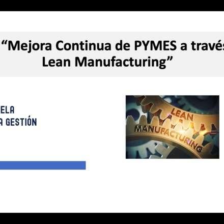 Taller Mejora Continua de PYMES a traves del Lean Manufacturing