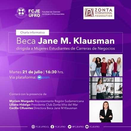 Charla Informativa sobre Beca Jane M. Klausman