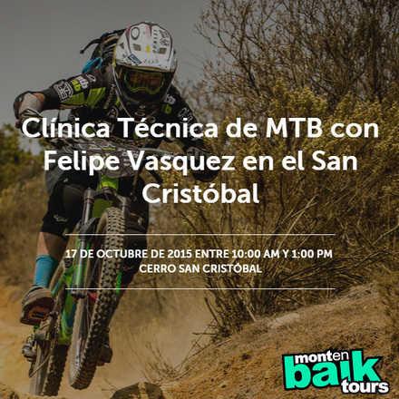 Clínica Técnica de MTB con Felipe Vasquez en el San Cristóbal