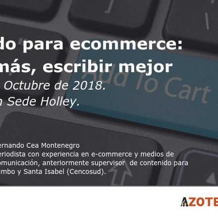 Taller: Contenido para ecommerce: vender más, escribir mejor