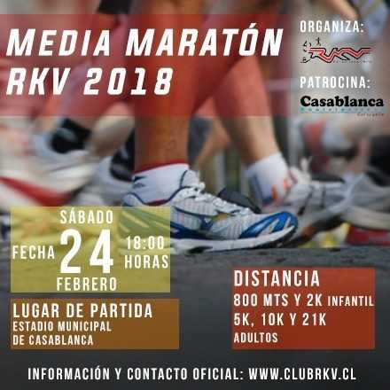 Media Maratón Casablanca RKV 2018