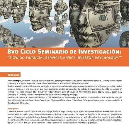 """Seminario de Investigación Facultad Economía y Negocios. 8vo Ciclo: """"How do Financial Services Affect Investor Psychology?"""""""