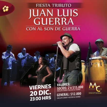 Fiesta con Tributo a Juan Luis Guerra