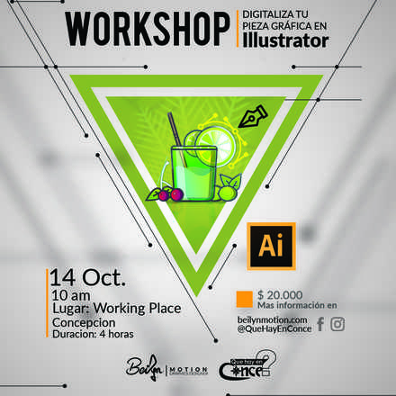 Workshop Digitaliza tu pieza Grafica con Illustrator