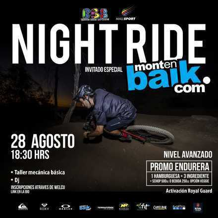 Night Ride con Burgers Beers and Boards By NiteRider