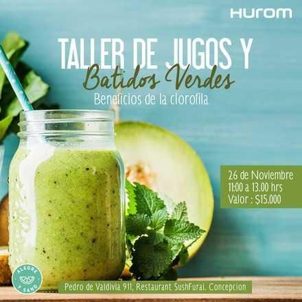 Taller Hurom Jugos y Batidos verdes - Concepción 26 Noviembre