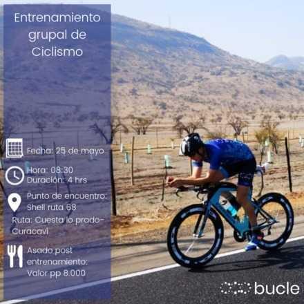 Entrenamiento grupal de ciclismo Bucletraining + Almuerzo