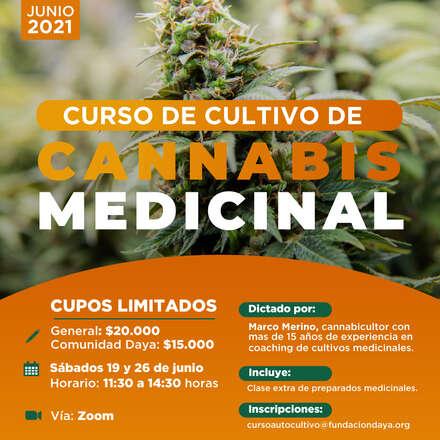 Curso de Cultivo de Cannabis Medicinal junio 2021